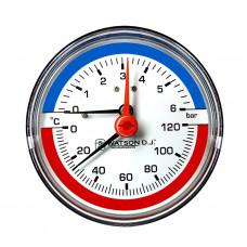 Термоманометр с задним подключением Watson D.J.