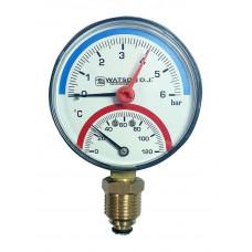 Термоманометр с нижним подключением Watson D.J.